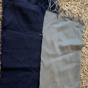 Accessories - Navy and Gray Fleece Scarves